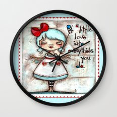 Made with Love - Heart String Tugger Wall Clock