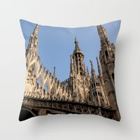 milan Throw Pillows featuring Milan by Alan Wong