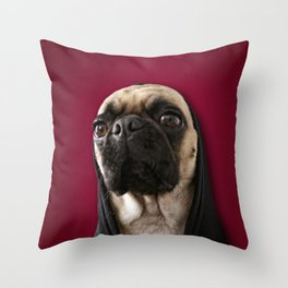 Lola on Red Throw Pillow