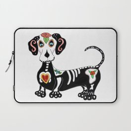 Dachshund Sugar Skull Laptop Sleeve