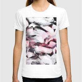 abstract painting with a little pink shade T-shirt