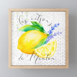 Les Citrons de Menton—Lemons and Lavender, Provence Framed Mini Art Print