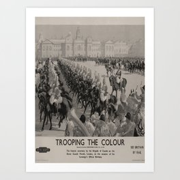 vintage placard Trooping the Colour voyage poster Art Print