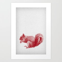 Squirrel 01 Art Print