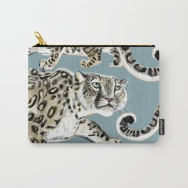 Snow leopard in blue Carry-All Pouch