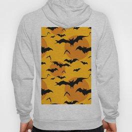 Abstract orange yellow black halloween bats animal pattern Hoody