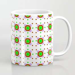 Symmetric patterns 143 Brown, green and purple Coffee Mug