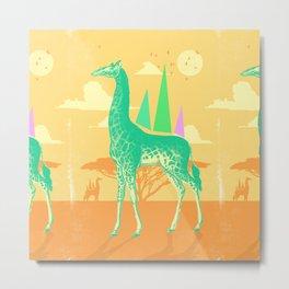 DESERT GIRAFFE Metal Print
