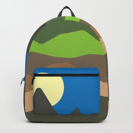 Green mountain tops Backpack
