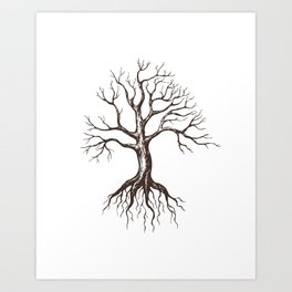 Bare tree Art Print