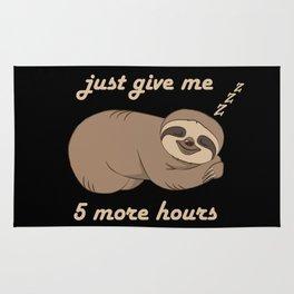 Sloth - 5 More Hours Rug