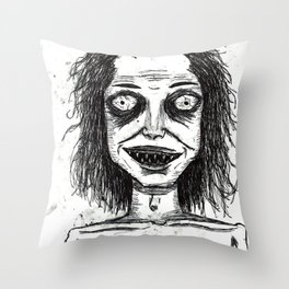 CRAZY DUDE Throw Pillow