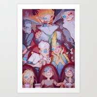 cinema Art Prints featuring Cinema by DustyLeaves