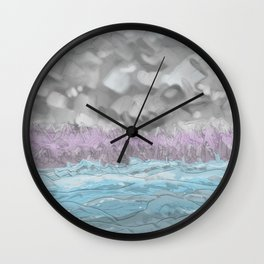 Water from Air hits Earth Wall Clock