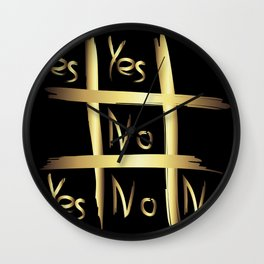 Tic Tac Toe - Yes or No Wall Clock