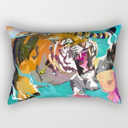 Hunting tiger Rectangular Pillow