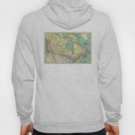 Vintage Map of Canada (1897) Hoody