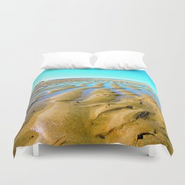 Waves of the Past Duvet Cover
