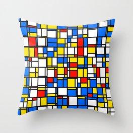 Mondrian Style 2 Throw Pillow
