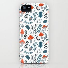 Winter mushrooms iPhone Case