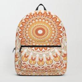 Orange Power Mandala Backpack