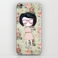 Nerdy girl iPhone & iPod Skin