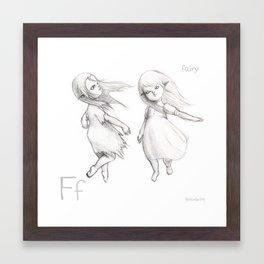 F for Fairy Framed Art Print