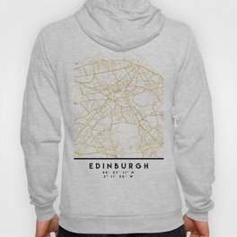 EDINBURGH SCOTLAND CITY STREET MAP ART Hoody