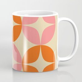 Mid Century Modern Pattern in Pink and Orange Coffee Mug