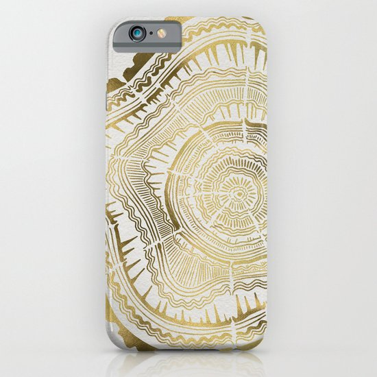 Gold Tree Rings iPhone & iPod Case