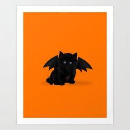Halloween Kitten Art Print