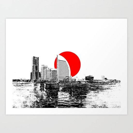 Modern Japan - Yokohama 2 Art Print