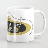 cycling Mugs featuring Cycling Sub by Billywilliam