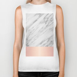 Real Italian Marble and Pink Biker Tank