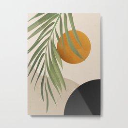 Abstract Art Tropical Leaves 47 Metal Print