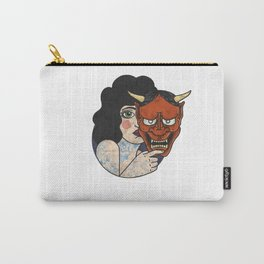 Hannya Masked Carry-All Pouch