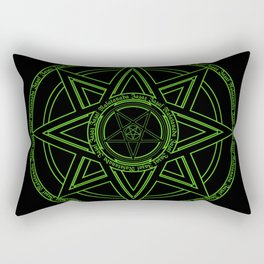 Zazaz Zazas Nasatanada Zazas (green acid edit) Rectangular Pillow