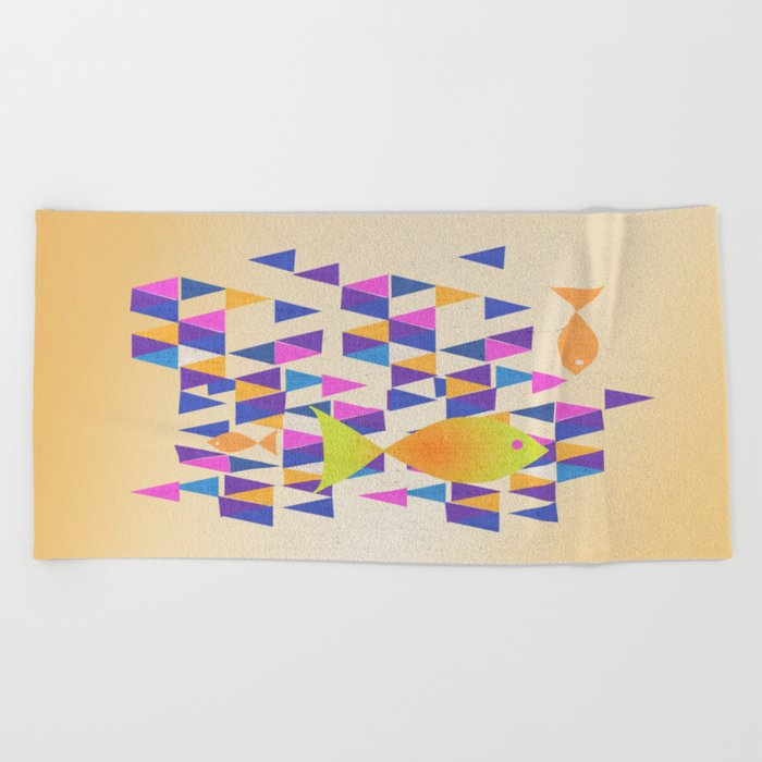 The Yellow Fish Beach Towel