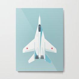 MiG-29 Fulcrum Jet Aircraft - Sky Metal Print