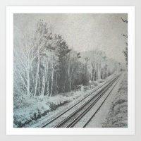 Pastel Railroad Art Print