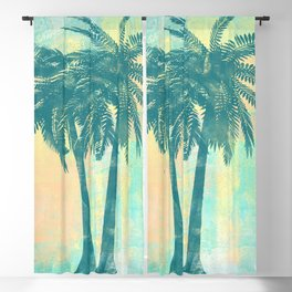 Tropical Palm Trees Blackout Curtain
