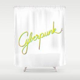 Cyberpunk Shower Curtain