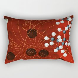 Retro Mathatomically Speaking Rectangular Pillow