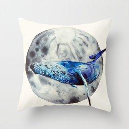 Lunar whale Throw Pillow