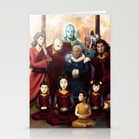 aang Stationery Cards featuring Aang and Katara's Legacy by Meder Taab