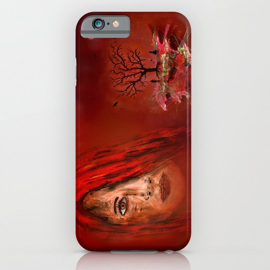 Lady in red - Island iPhone & iPod Case