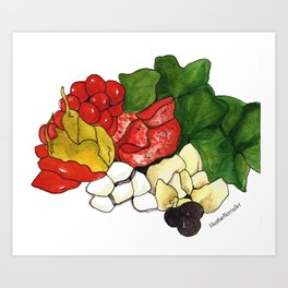 A is for Antipasto Art Print