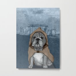 English Bulldog in Stonehenge Metal Print