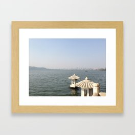Hangzhou Lanterns Framed Art Print