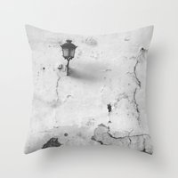 cracked Throw Pillows featuring Cracked by @lauritadas